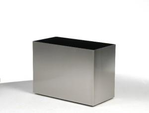 Rektangulär stålkruka