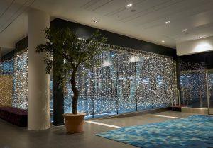 Ljusdraperier med leds på hotell Continental