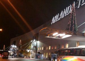 Plastgranar på Arlanda flygplats