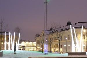 Julbelysning, Ice thorns i grupp utomhus