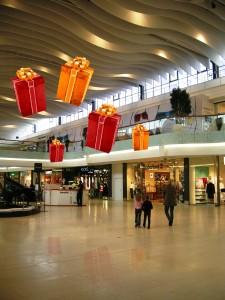 Stora hängande julpaket som även kan fås med ledbelysning