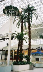 Stora konstgjorda växter. Palmer ca 14 meter höga. Specialbyggda för IKEA Mega Mall, Moskva.