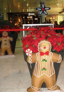 Stor pepparkaksgubbe och julstjärnor