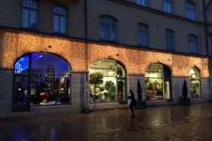 Ljusgardiner på fasad hos wexter