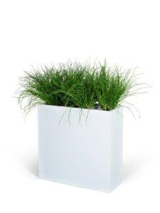 Avskärmning med konstgjort gräs